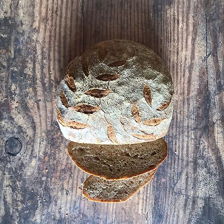 French Boule sliced and ready to enjoy.