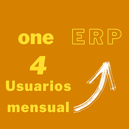 Plan one ERP - 4 usuarios por mes