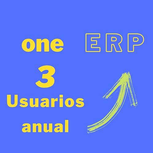 Plan one ERP - 3 usuarios anual