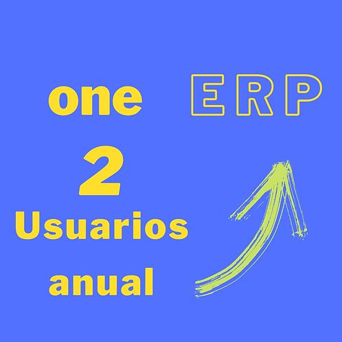 Plan one ERP - 2 usuarios anual