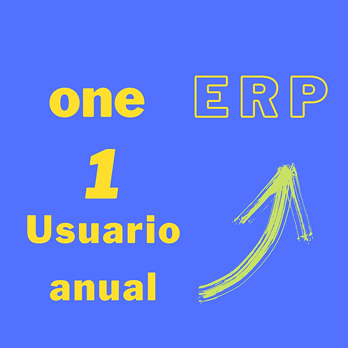 Plan one ERP - 1 usuario anual