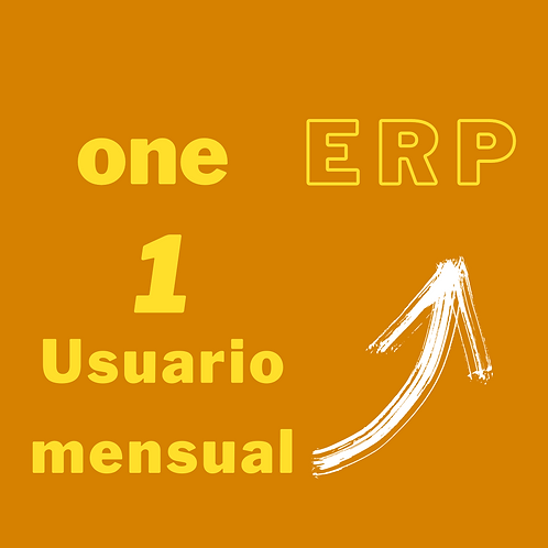 Plan one ERP - 1 usuario por mes