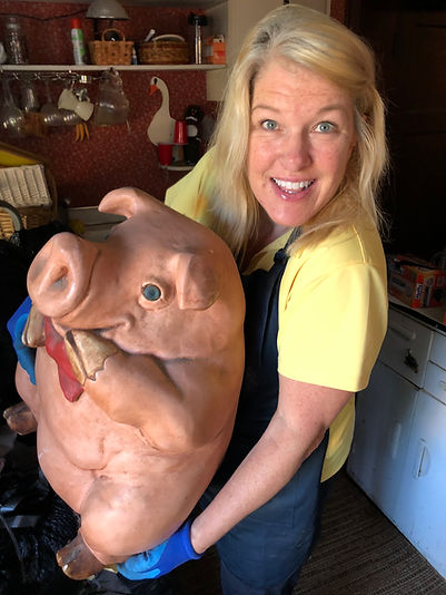 Anne with pig.JPG