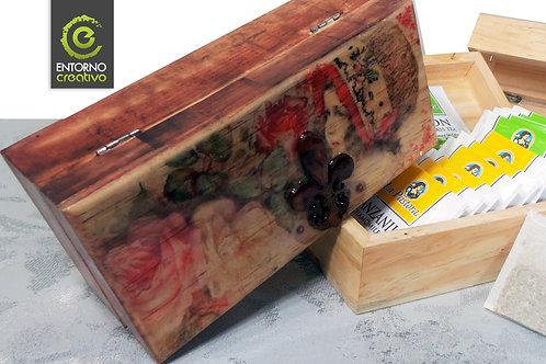 Caja de Madera Sublimada 18 x 8.5 cms