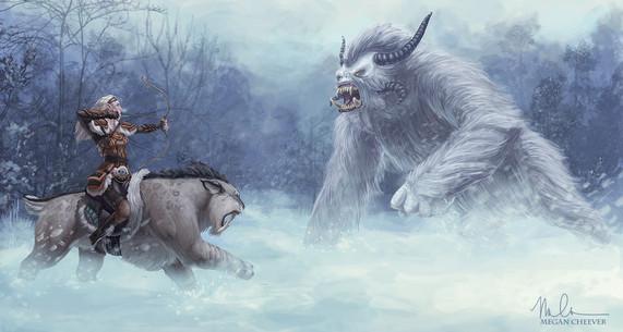 Yeti and Huntress by Megan Cheever