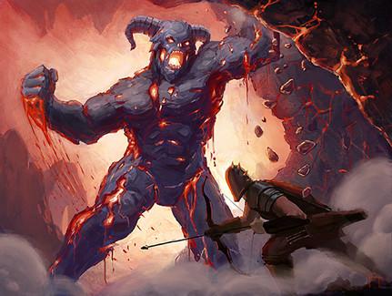 Magma Beast by Frank Garza