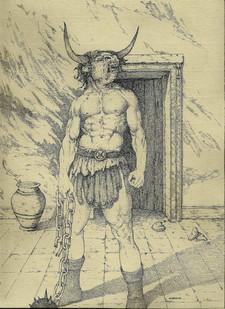 The Minotaur by Adrien-Angelo Bastien