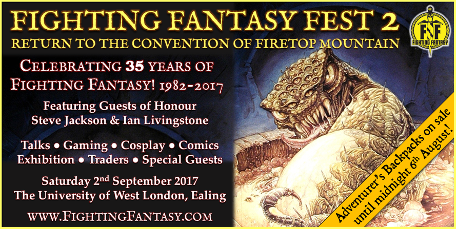 2nd September 2017 - Fighting Fantasy Fest 2