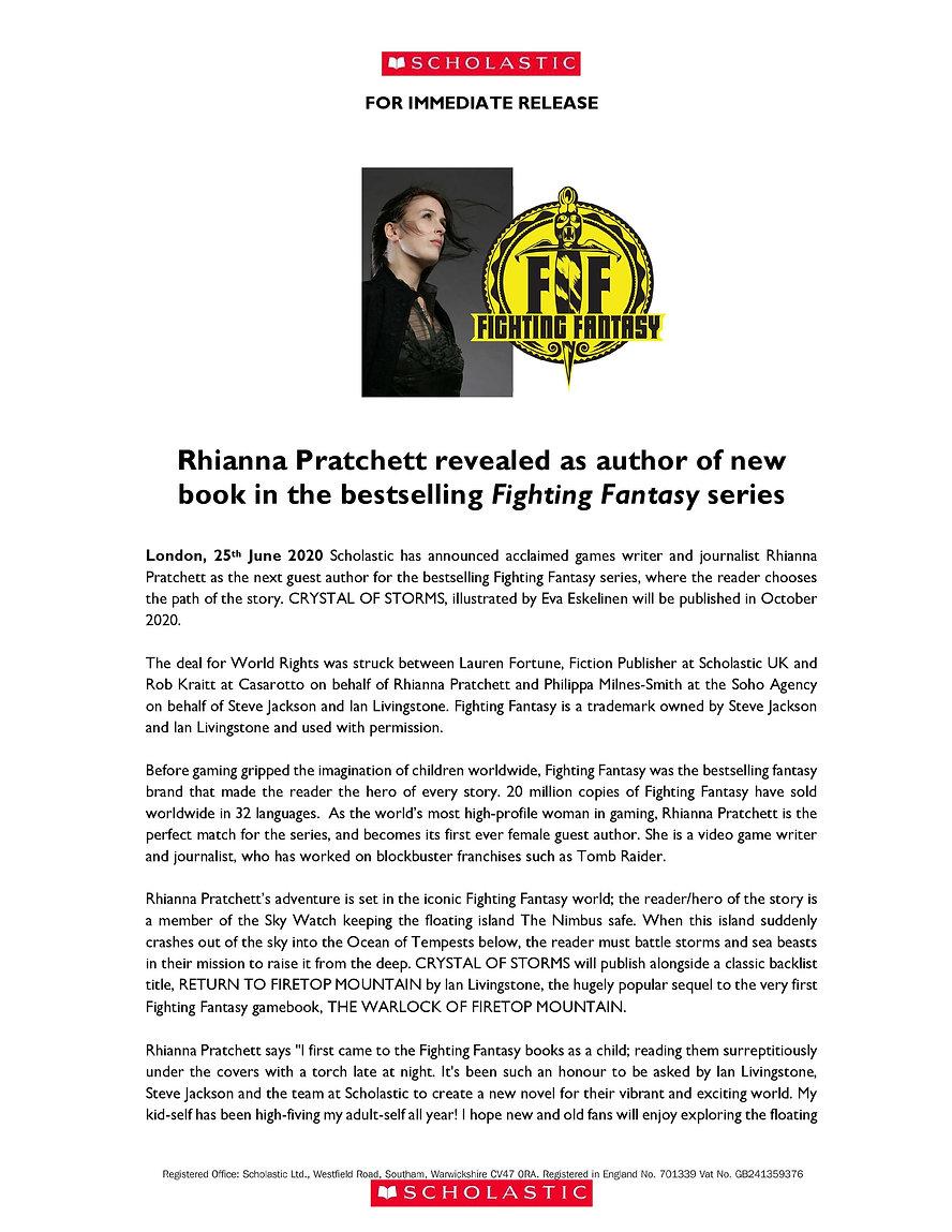 Rhianna Pratchett pens Fighting Fantasy