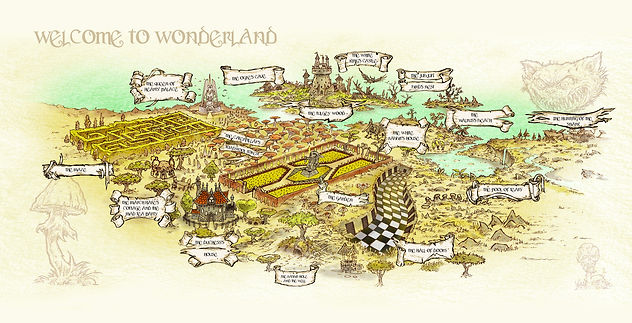 Welcome to Wonderland endpaper alice 202