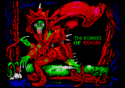 The Forest of Doom ZX Spectrum pixel art by Andy Green