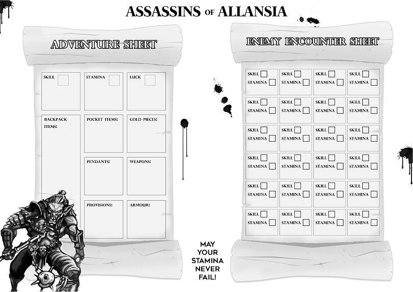 FF Assassins of Allansia Adventure Sheet