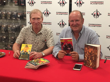 2nd December 2017 - Steve Jackson and Ian Livingstone attending Dragonmeet
