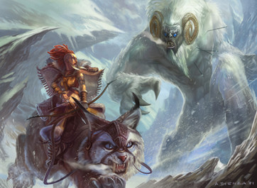 Yeti and Huntress by Jacob Atienza