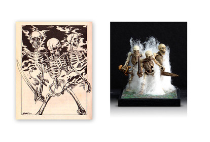 Three Skeletons, by Steve Britton