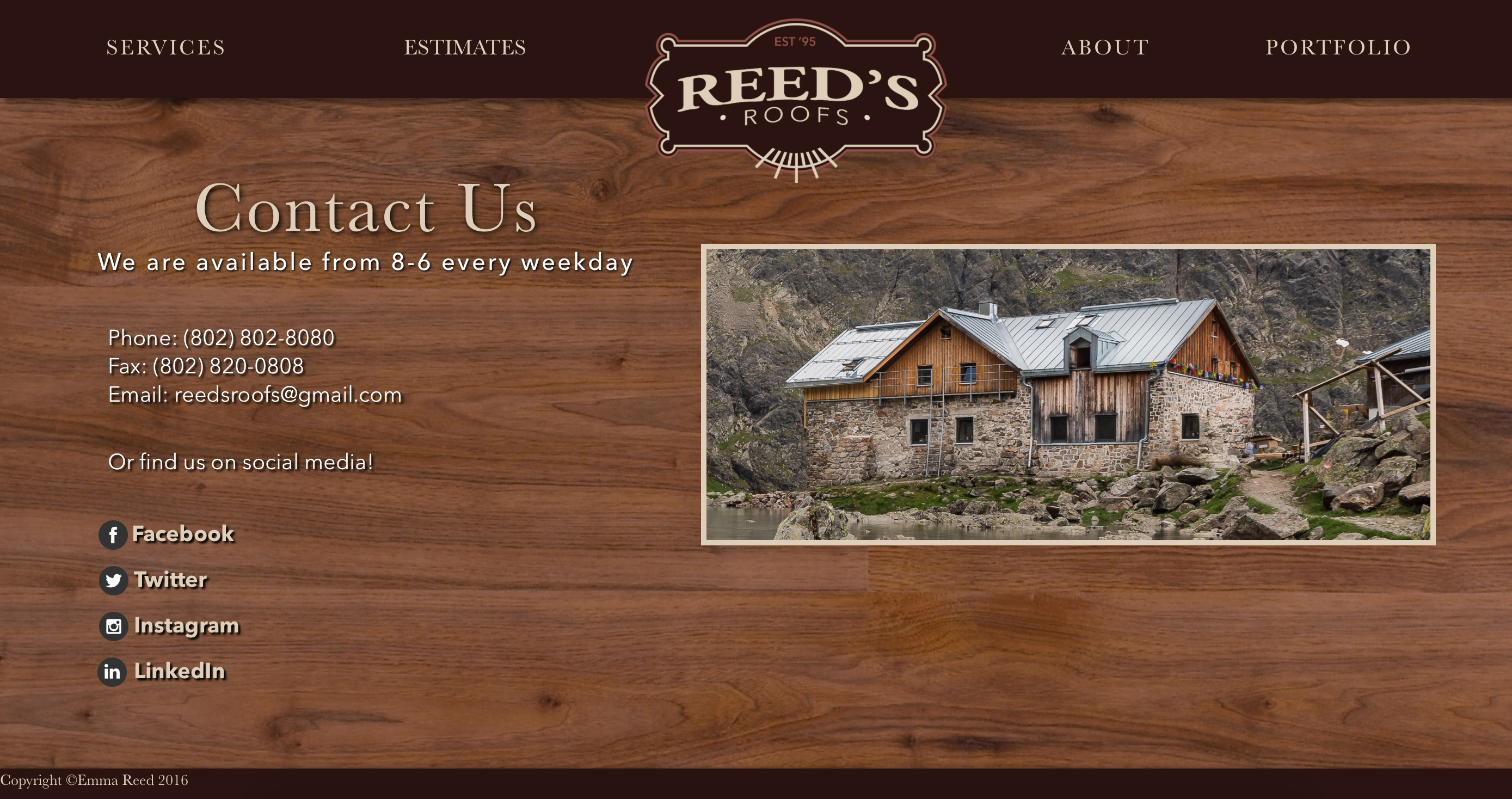 Reed's Roofs Contact