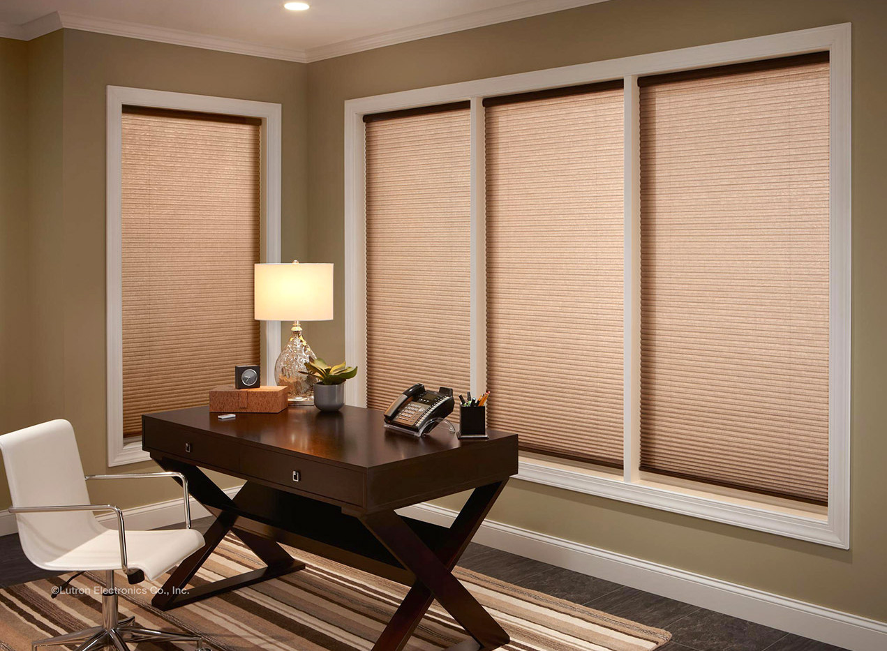 automated honeycomb shades, light filter