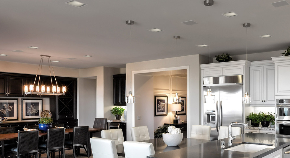 LED Downlights - square fixtures with sm