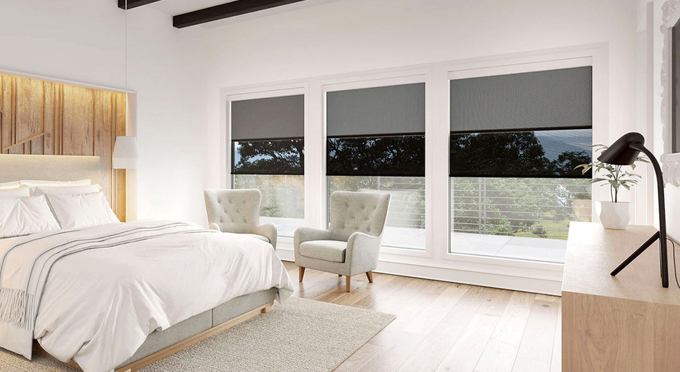 Master Bedroom DUO Shades - Dual Roller