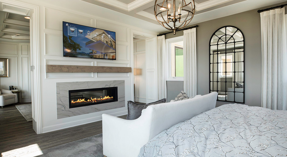 Master bedroom - display mounted onwall