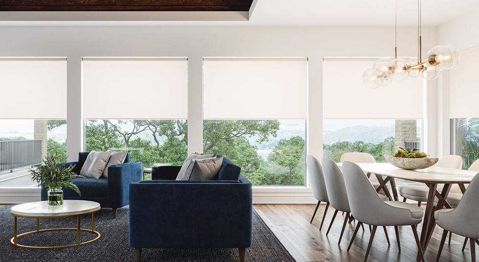 Roller Shades with exposed mounting hard
