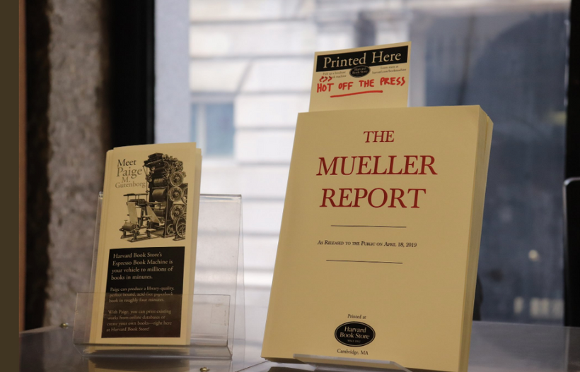 Harvard Book Store Publishes Mueller Report