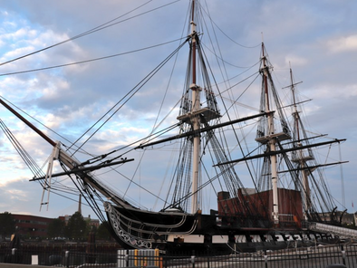 USS Constitution Sets Sail In Boston Harbor, First Time In Over A Year