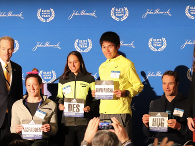 Boston Marathon Defending Champ Desiree Linden Speaks Before 2019 Run