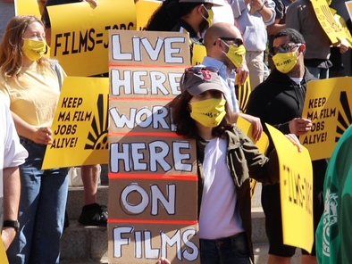 Film Workers Rally At Mass. State House To Keep Incentive Program