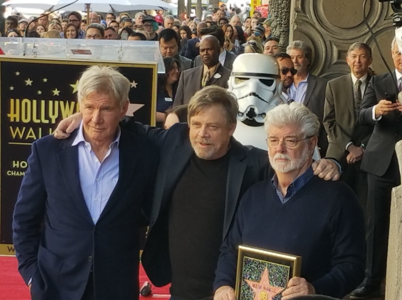 Actor Mark Hamill Gets Star on Walk of Fame