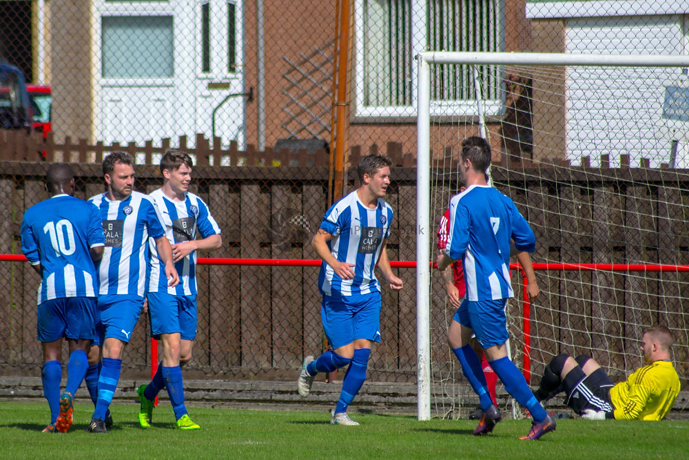 Montgomery opens the scoring for Penicuik Athletic