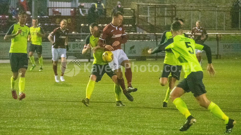 Kelty were drawing fouls in dangerous positions