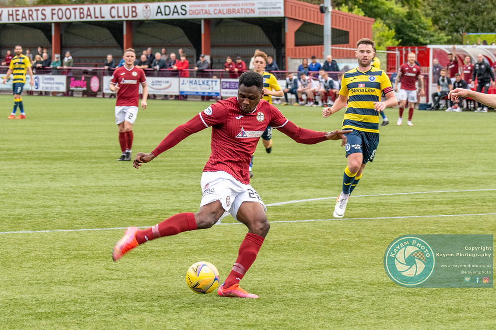 Alfie Agyeman with a late chance