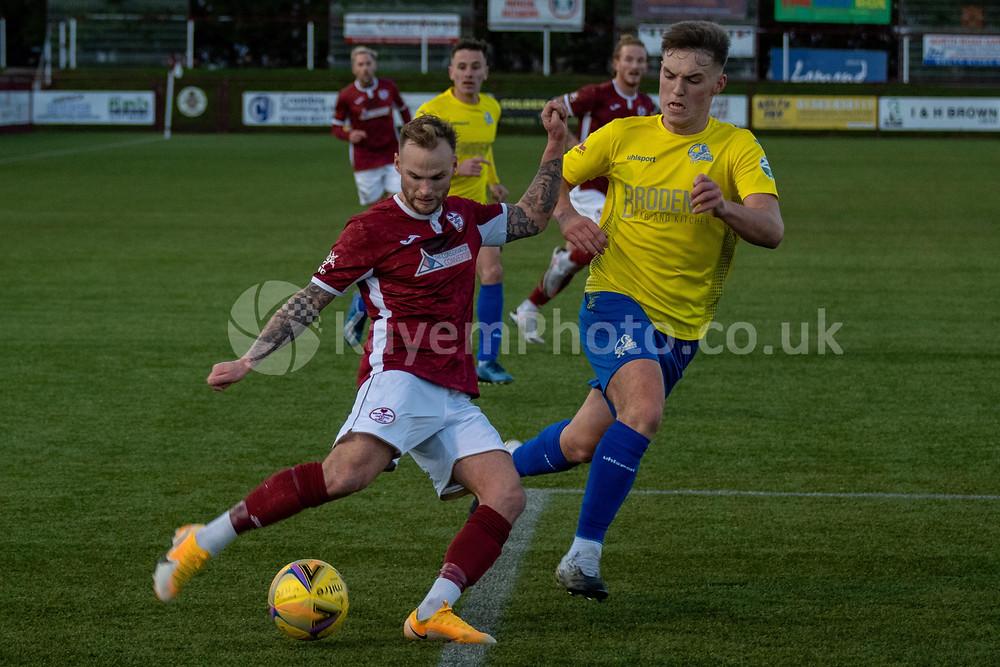 Kallum Higginbotham almost got a well deserved goal