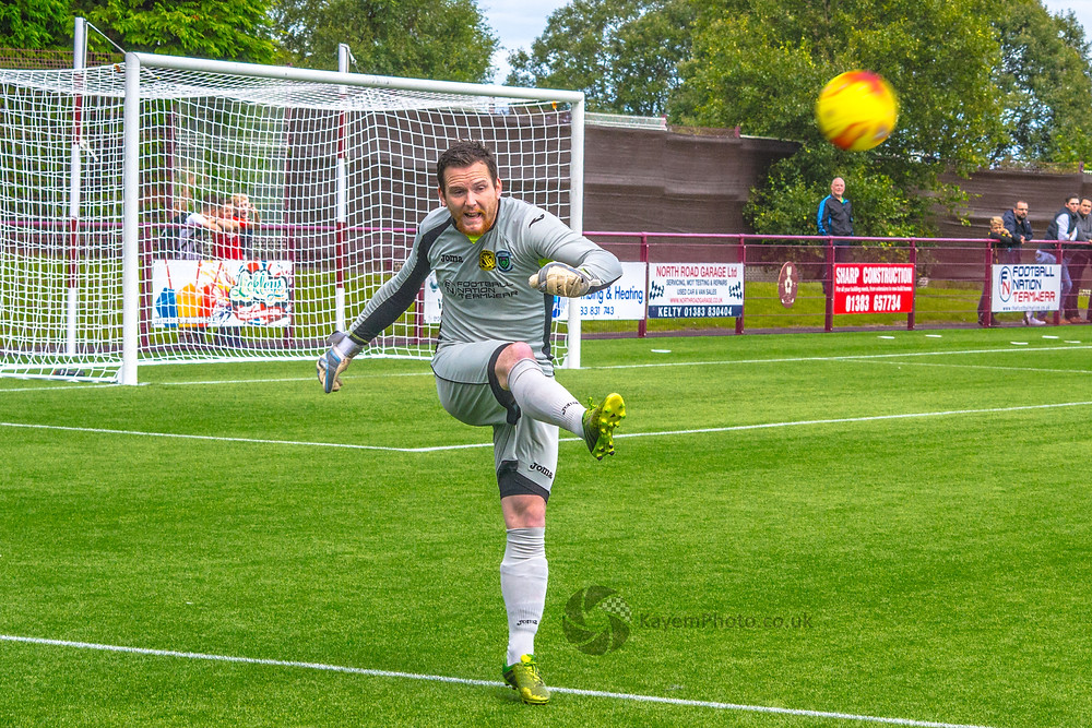 Kevin Swain - it could be a busy afternoon for the the LTHV keeper