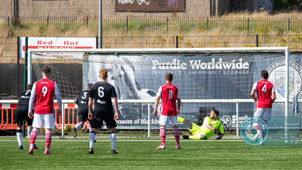 Martin Lawrie with his second from the spot