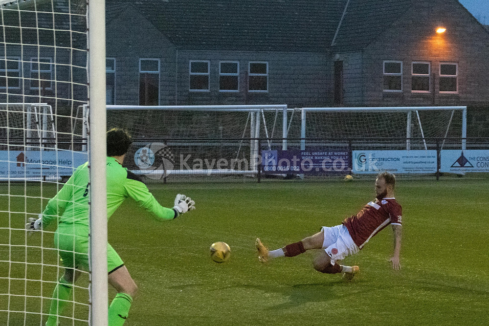 Higginbotham had Kelty's best chance