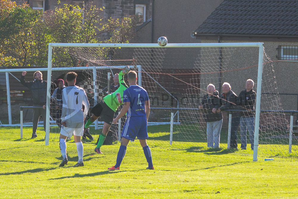 Malpas saves from a Douglas header