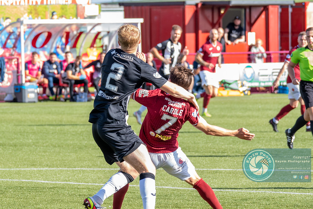 Kelty should have had a penalty for a foul on Cardle