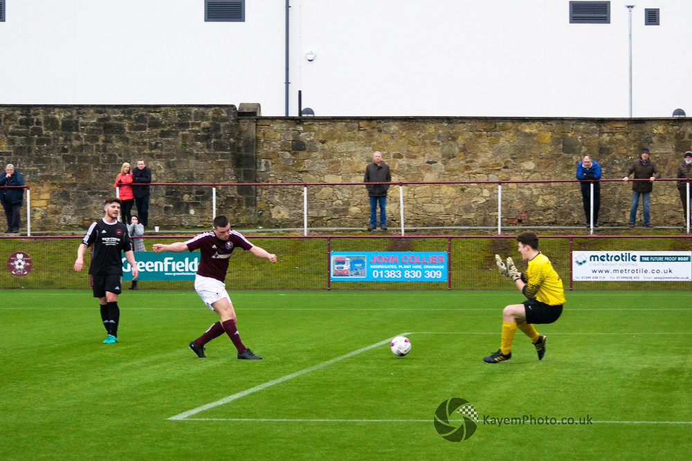 Sheerin opened the scoring just before half-time