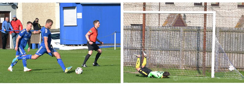 O'Neil broke the deadlock on the storke of half-time