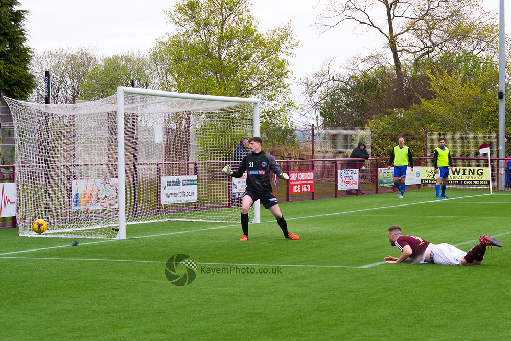 Brian Ritchie nearly equalised for Kelty