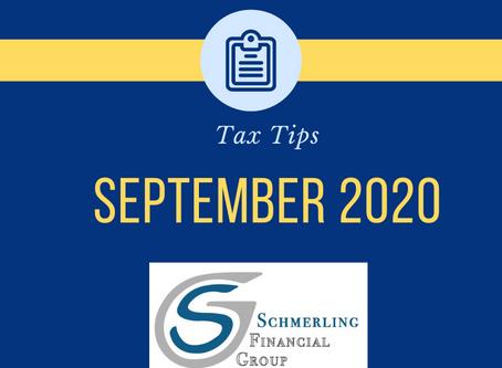 September 2020 Tax Tips