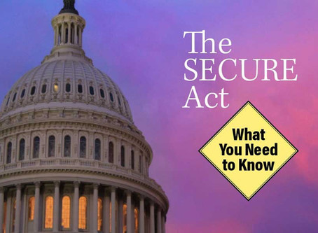 what does the SECURE Act mean for you?