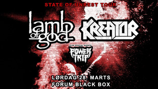 Lamb Of God - Kreator spiller i Forum