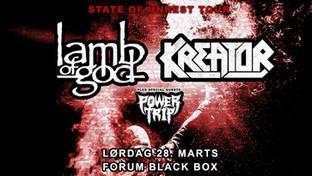 Lamb Of God - Kreator spiller i Forum