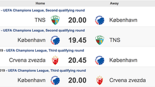 FCK CL.Kvalifikation Kampe