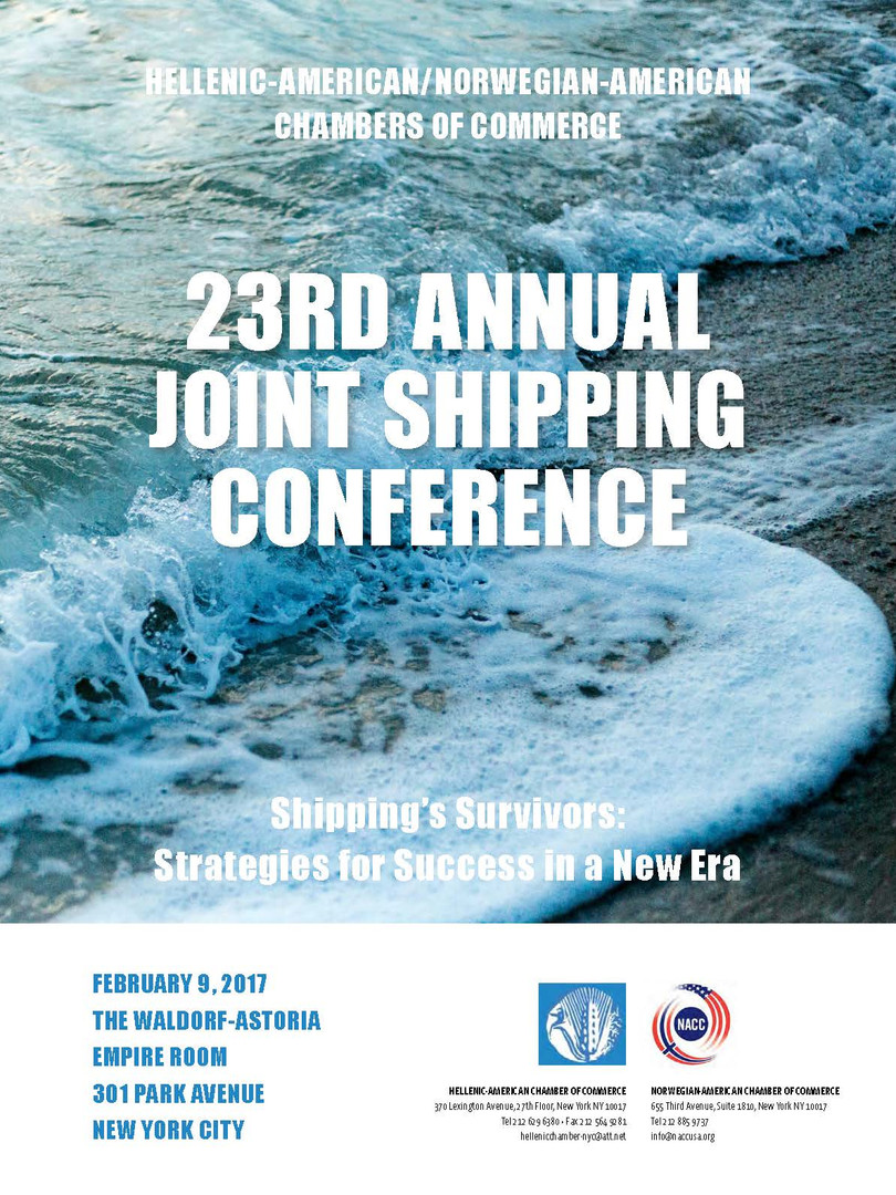 For the 23rd Annual Shipping Conference Program press below:
