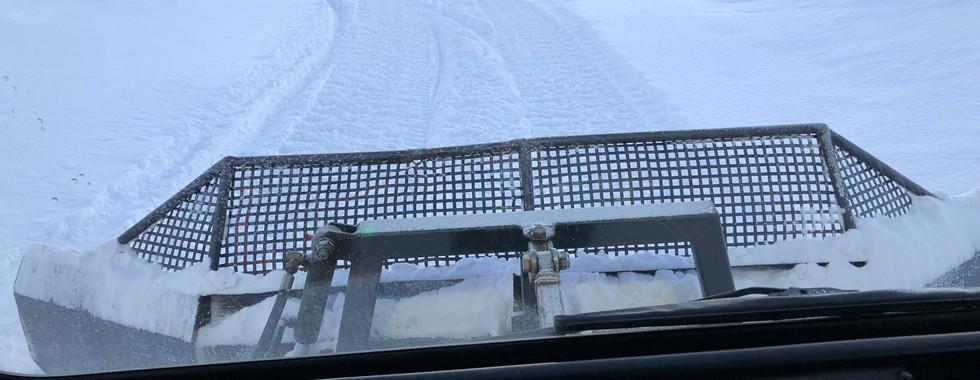 Snescooter spor køres også med PB-100dr