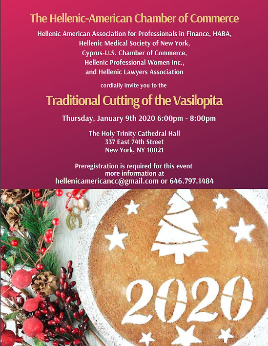 Traditional Cutting of the Vasilopita Fl